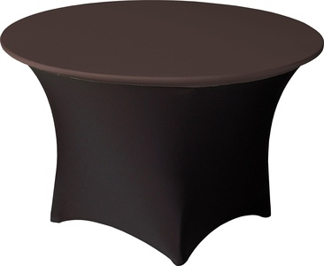 Snap Drape CCAP60RCHOC Contour Table Cover Cap, Snug Fit, Flame Retardant, Machine Washable/Dryable, 60