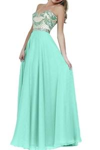 Winnie Bride Women's Long Strapless Evening Prom Formal Dresses-16W-Light Green