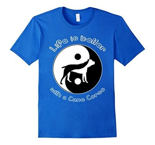 Men's Life Is Better With Cane Corso T-Shirt Small Royal Blue