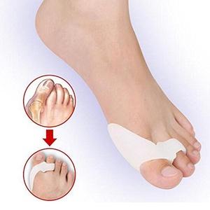 1Pair Pro Silicone Toe Hallux Valgus Separator Protector Relief Foot Thumb