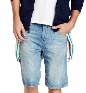 Joe's Mens Denim Striped-Suspender Jean Shorts Blue 38