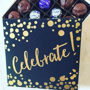 Celebrate Gift Box with Sugar Free Assorted Chocolate - made by Diabetic Candy and friendly