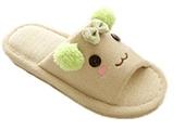 Soojun Women's Cute Slip-on Indoor Open Toe House Slipper, Green, Girl 10.5 M - 11 M