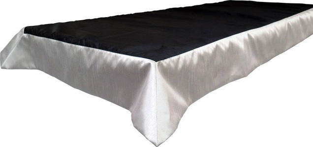 Snap Drape OVROY42108BLK/PLT Tablecloth, Fits 6' x 30