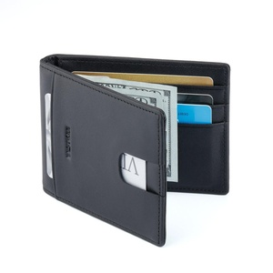 Bestkee Money Clip Slim Wallet - RFID Blocking Men Bifold Purse Genuine Leather