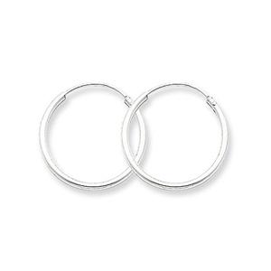 .925 Sterling Silver 19 MM Classic Endless Hoop Earrings