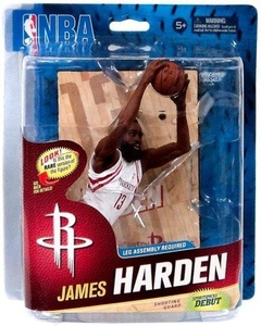 McFarlane Toys NBA Sports Picks Series 23 Action Figure James Harden (Houston Rockets) White Uniform Collector Level by NBA Basketball Sportspicks Series 23 Action Figures