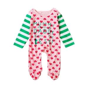 SunWard(TM) Fashion Infant Baby Boys Girls Long Sleeve Letter Print Romper (Size:12M, Pink)