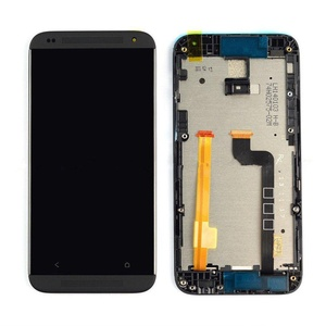 Black HTC Desire 601 LCD Display w/ Touch Screen Digitizer Assembly With Frame