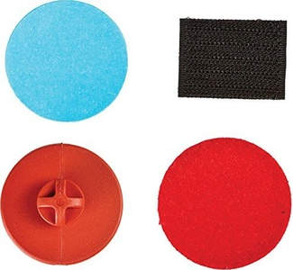 Quick Strap Re-Mounting Kit w/ Button Eyewear Accessories - Red - One Size by Quick Strap