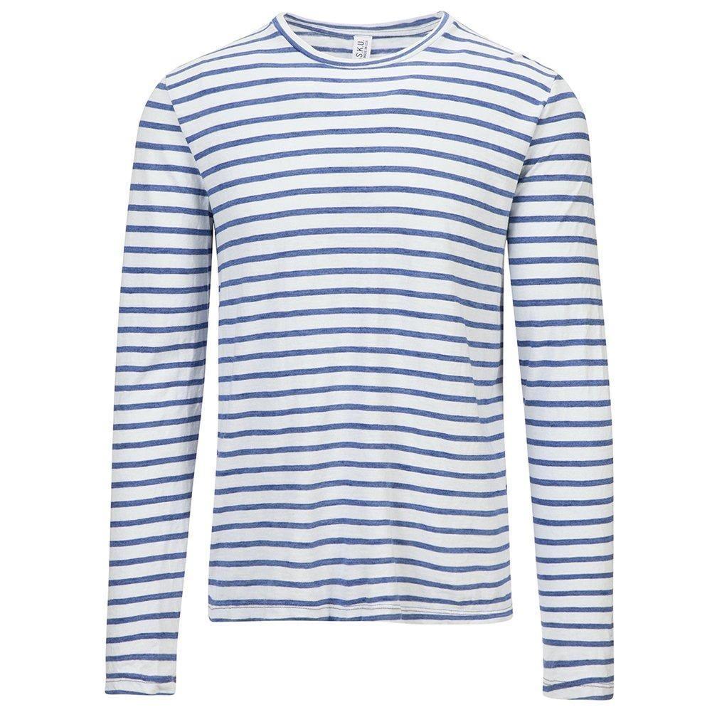 Save Khaki Men's L/S Indigo Sulf Stripe Tee SK015-SS SZ L
