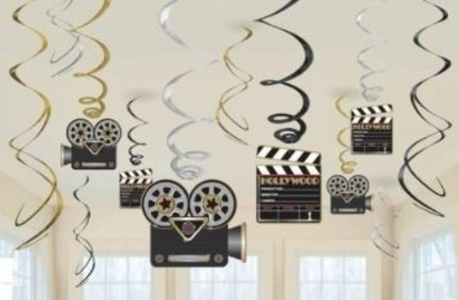 Star Attraction Hollywood Hanging Decorations - 60cm Hanging Swirls by Hollywood Star Attraction Hollywood Hanging Decorations - 60cm Hanging Swirls
