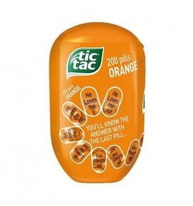 Tic Tac Bottle Orange 98g x 8