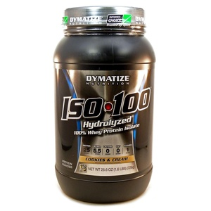 Bundle - 2 Items : 1 ISO-100 Cookies and Cream by Dymatize - 1.6 Pounds and 1 VDC Shaker Cup