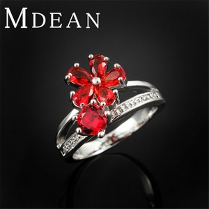 Slyq Jewelry Flower Ring Platinum plated exaggerate jewelry engagement fashion bague romantic accessories