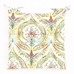 Multicolor Ogee Cotton Chair Cushion