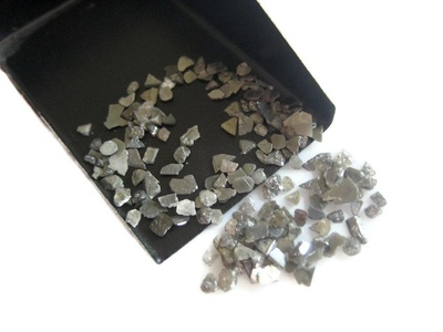 10 Carats Natural Diamond, Grey Diamond Slice, Grey Raw Rough Uncut Diamond Chips, 2mm To 5mm Approx