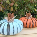 Mason Jar Lid Pumpkin for Autumn Decor Centerpiece