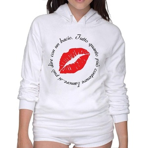 Pullover Un Bacio Red Lip Hoodie Hoodie T Shirts Women'ssport