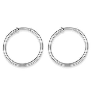 .925 Sterling Silver 30 MM Polished Endless Hoop Earrings