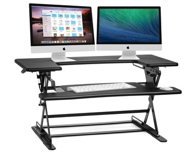 Halter ED-600 Preassembled Height Adjustable Desk Sit / Stand Elevating Desktop - Black