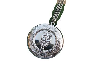 Owl Locket, Owl Locket Necklace, Owl Photo Locket Jewelry, Owl Jewelry Necklace, Owl Pendant
