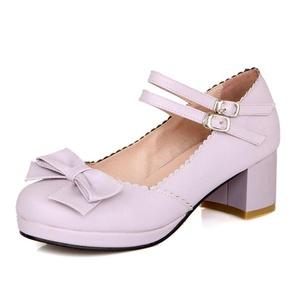AIWEIYi Womens Fashion T Strap Bows Ladies Platform High Heel Pumps Shoes