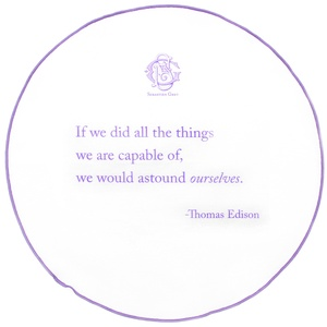 Sebastien Grey Quoted Thomas Edison Pocket Round (Violet Ink, Lavender Border)