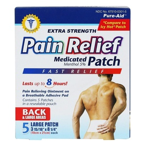 Pure-Aid Extra Strength Pain Relief Patch-5ct (2 Pack)