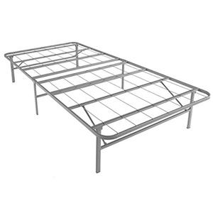Twin XL Premium Platform Bed Base, Silver