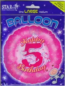 Happy 5th Birthday 18 Foil Balloon by Foil Balloon