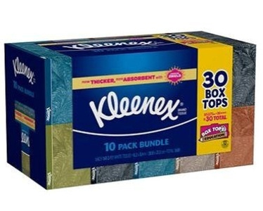 Kleenex Facial Tissue Family Pack White 230-count (Pack of 10) by Kleenex