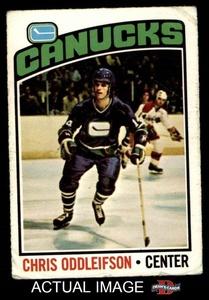 1976 O-Pee-Chee NHL # 112 Chris Oddleifson Vancouver Canucks (Hockey Card) Dean's Cards 2 - GOOD