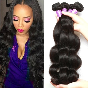 Flady Brazilian Hair 4 Bundles Body Wave Weave 100% Unprocessed Virgin Human Hair Extensions Black Color (18 20 22 24inch)