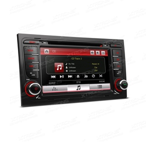 XTRONS 7 Inch HD Digital Touch Screen Car Stereo In-Dash DVD Player with GPS Navigation Dual Channel CANbus Screen Mirroring Function for Audi A4 S4 RS4