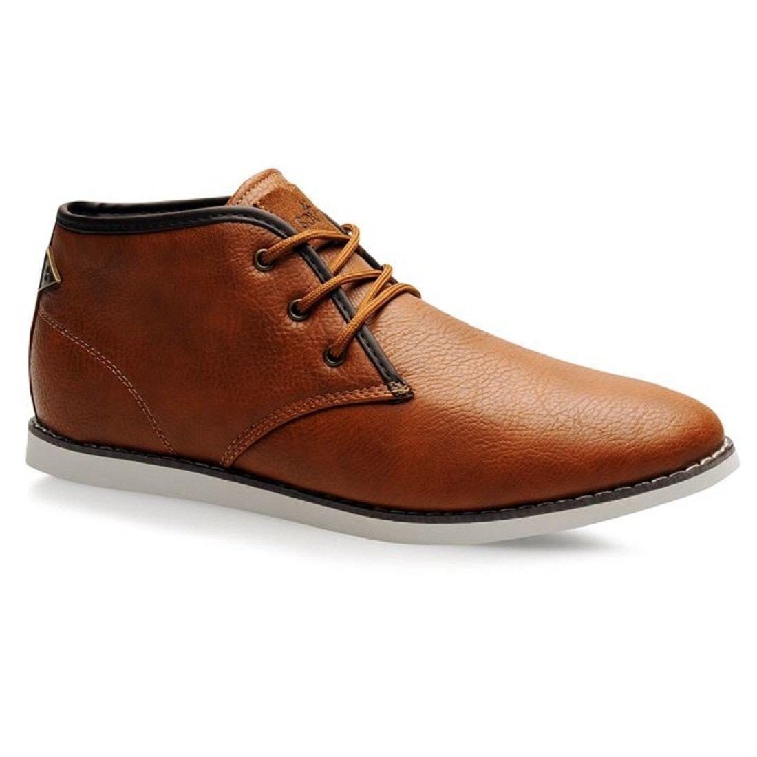 Mens Soviet White Chapel Mid Boots Shoes Tan (UK 8.5 / US 9)