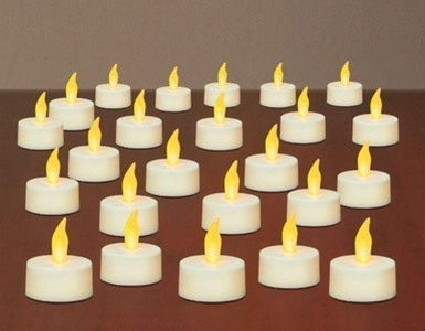 TEA LIGHTS NO FLAME 24PK by INGLOW MfrPartNo CG29619WH by Northern International