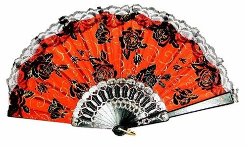 Day Of The Dead Lace Fan by HM Smallwares