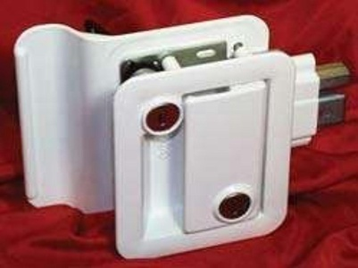 Travel Trailer Lock, White by Fastec Industrial