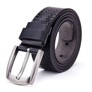 Boshiho Men's Jeans Belt Cowhide Leather Belt Pin Buckle Apparel Belt