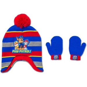 Paw Patrol Toddler Boy Peruvian hat and Mitten Set