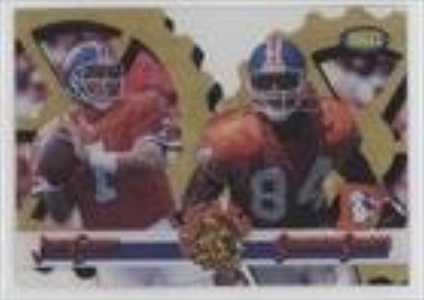 John Elway; Shannon Sharpe (Football Card) 1995 Classic Images Limited - Focused - Gold #F-9