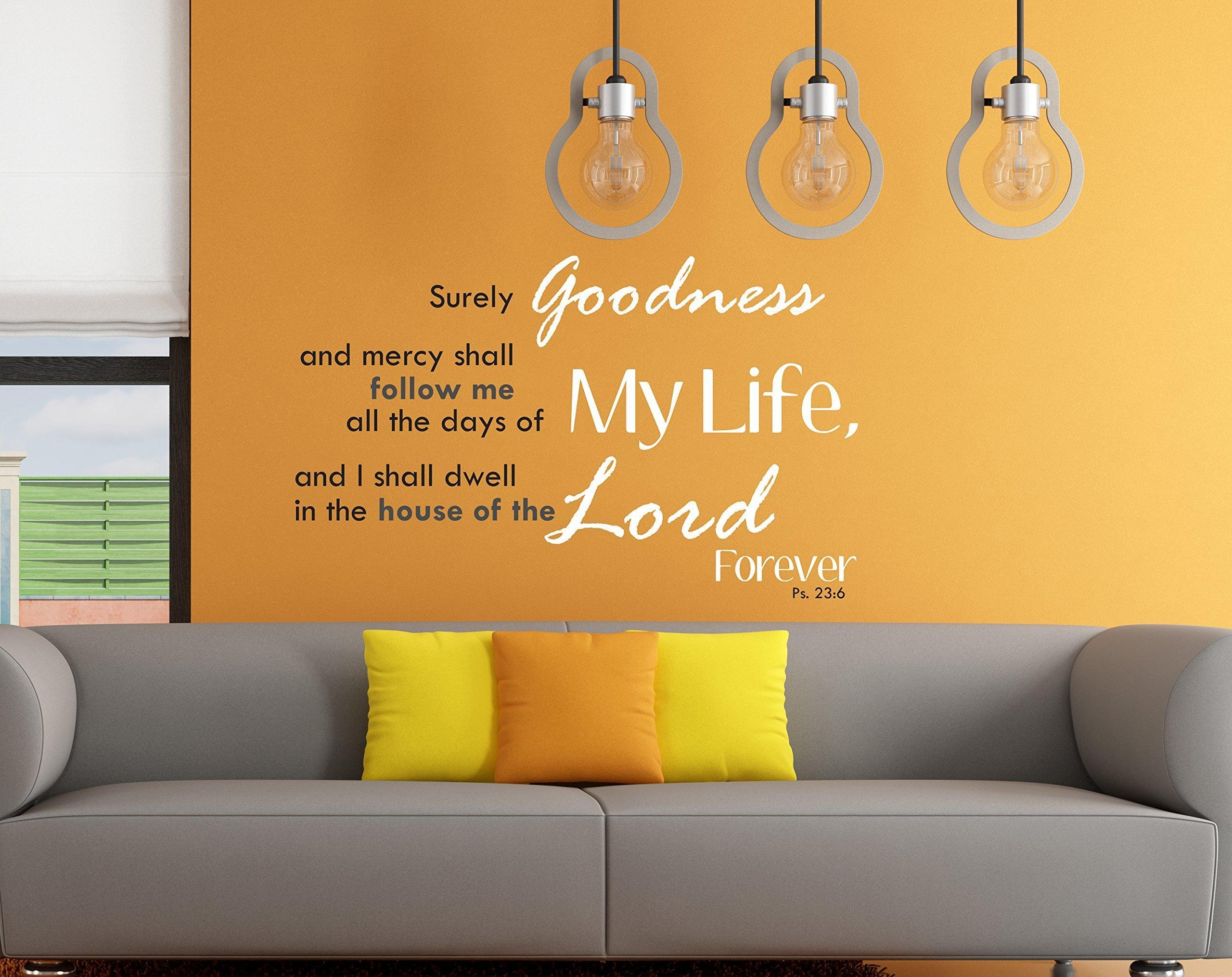 Online Store Family Wall Decal Christian Bible Quote Living Room Home Decor Art Vinyl Surely