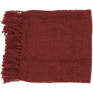 Woven Cornell Acrylic and Wool Throw Blanket
