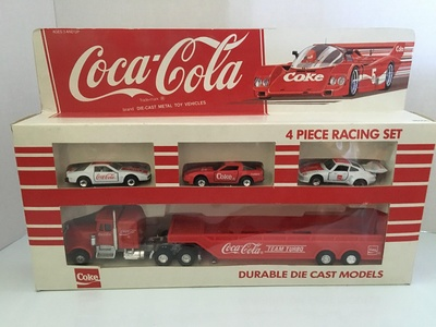 Coca-Cola 4 Piece Racing Set