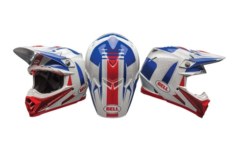 Bell Moto-9 Unisex-Adult Off Road Helmet (Vice Blue/Red, X-Small) (D.O.T.-Certified)