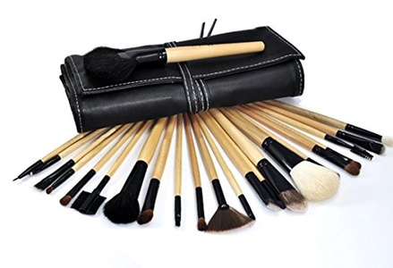 Celltronic 24Pcs Professional Makeup Cosmetic Brush Set Kit Tool with Roll Up Case