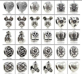 Charm Central Mixed Silver Charms for Charm Bracelets - 30 Charms for Charm Bracelets - All Charms Fit Pandora and Other Charm Bracelets