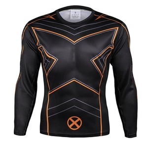Super Hero X-Men Marvel Costume Quick Dry Sports T-Shirt Gym Cycling Jersey Top (Asian-L)