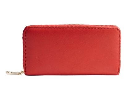 Stealth Mode Womens RFID Blocking Napa Leather Zipper Wallet (Red)